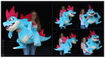 Giant Feraligatr Custom Plush by Nazegoreng