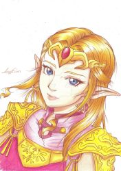 Princess Zelda from Ocarina of Time Drawing by LayzeMichelle
