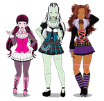 This is where the Ghoul Kids rule || Monster High by GaygerTheLame