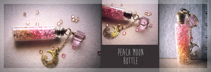 FOR SALE : Peach Moon Bottle (closed) by D-Dyee