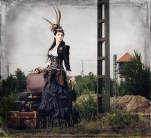 Train to nowhere ....   steampunk by S-T-A-R-gazer