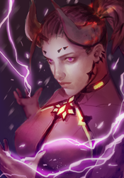 overwatch: devil mercy by atutcha