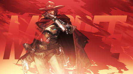 Overwatch - McCree Wallpaper by MikoyaNx