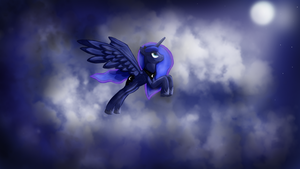 Flying To The Moon by Bluenight01