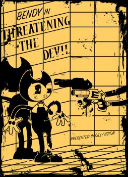 BATIM Fan Poster Threatening The Devil by Y-MMDere