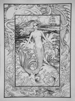 Mermaid Sea Above and Beneath by HouseofChabrier