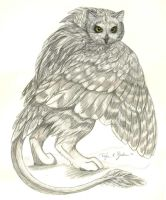 Owl Gryphon - Short-eared by Foxfeather248