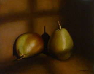 Still Life with Two Pears by nicolepellegrini