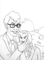 The Doctor, Van Ghoul, and Arnold by pythonorbit