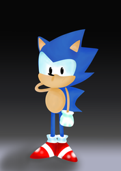 sonic the hedgehog by M1j4h3l0