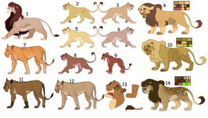 Lion Adopts Sale (now free for anyone) (Closed) by Karibu99