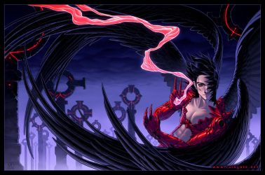 The Crow Of Crimson by MichelleHoefener