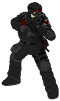Helghast Assault Trooper by thefirewarriors