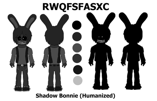 Shadow Bonnie (Humanized) reference by MarcosVargas