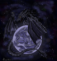 Dahakin-dragon of the blue moon by Crazy-Cat009