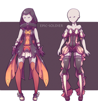 Costume adoptables 14(CLOSED) by Epic-Soldier