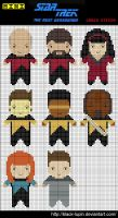 Mini StarTrek TNG Cross Stitch by black-lupin