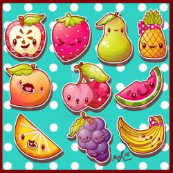 Fruits Set by marywinkler