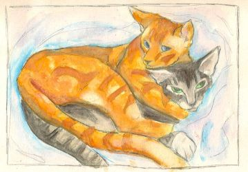 kittens by apolly0n