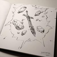 Inktober day 6: sword by Jordy-Knoop