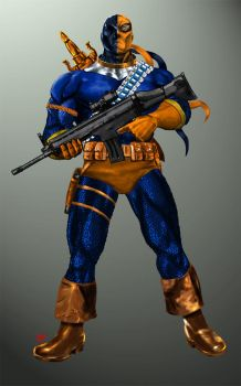 Classic Deathstroke by osx-mkx