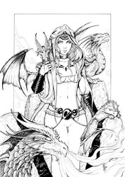 Here Be Dragons (Inks) by ColletteTurner