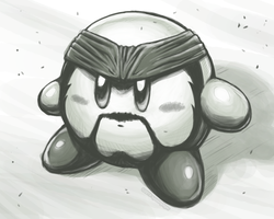 Solid Snake Kirby (2010) by spoonyliger