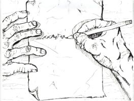 My SketchY Hands by GrimZombie