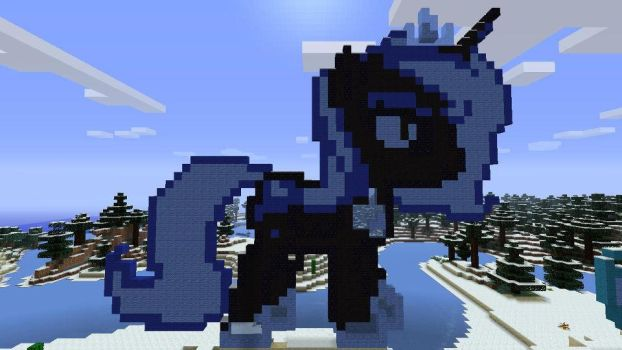Night Mare Moon Pixel Art OC (Gift) by GreatnPowerfulBNKing