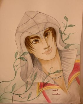 Ezio water color by clawsoncat