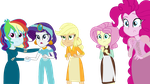 The mane five as Disney Princesses by tdimlpfan234