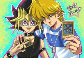 Yugi and Jounouchi: Best Friends by MSprinkleZ