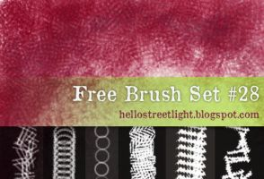Free Brush Set 28: Crosshatching, Fabric by hellostreetlight
