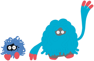 Tangela and Tangrowth Base by SelenaEde