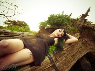 Caitlin Reclining by SweetNausea