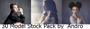 30 Model stock pack by Andro by Andro1990