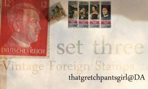 Vintage Foreign Stamps 3 by thatgretchpantsgirl