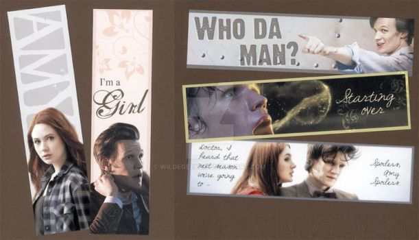 Eleventh Doctor Bookmarks by WildeGeeks
