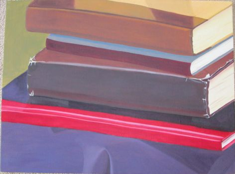 Stack of Books by Crystal-Rosen