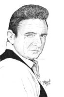 Johnny Cash by B-Richards