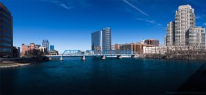Blue Bridge and Grand River by KBeezie