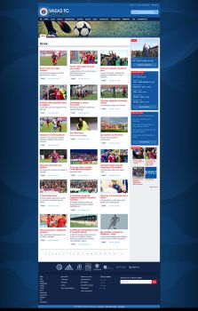 Vasas FC site subsites design by sum-blink
