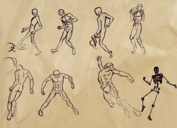 sketches for some football positions by Sentinelite