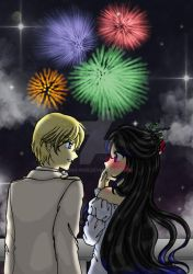 Freyja Eph - A Banquette, Fireworks, And A Kiss by bena-ndr