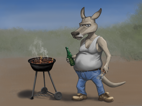 Dusty the kangaroo by JalmiArt