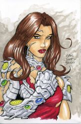 6x9 Copic Practice - Witchblade by gregscottbailey