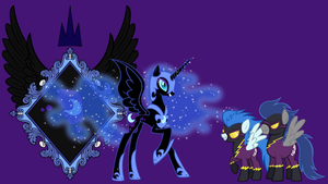 Nightmare Moon and Shadowbolt wallpaper by neodarkwing