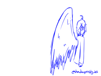 Wings movement - Animation sketch [OC] by AbrilGoico