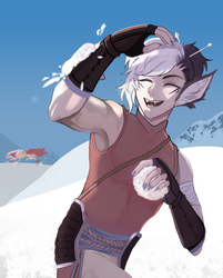 [C] he's getting attacked by a snowball oh no- by Ikeela