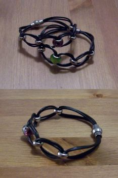 Leather Bracelets, knotted by Enira